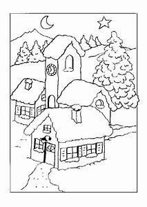 Personnage Pour Village De Noel : coloriage maison et tour noel ~ Melissatoandfro.com Idées de Décoration