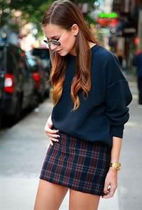 How To Style Plaid u0026 Tartan Skirts 2018 | FashionGum.com