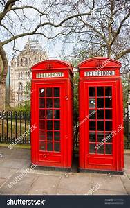 Two Red Telephone Box Outside Natural Stock Photo 94171558