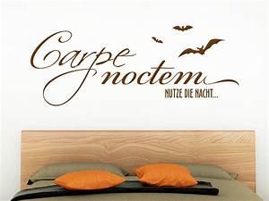 Wandtattoo Carpe Noctem : wandtattoo carpe noctem mit flederm usen von klebeheld ~ Sanjose-hotels-ca.com Haus und Dekorationen