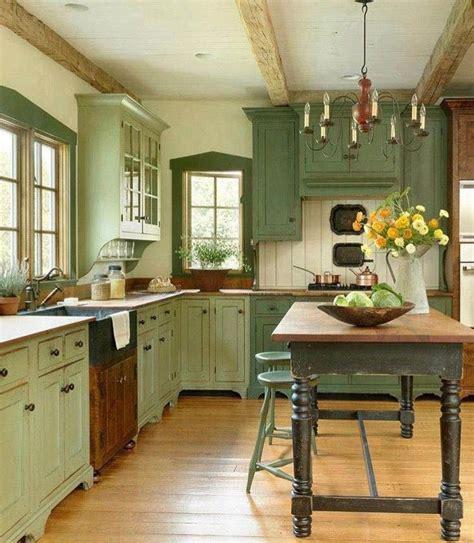 kitchencupboards cottage kitchen cabinets green