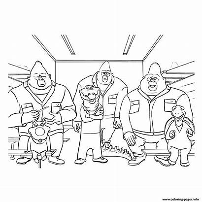 Sing Coloring Pages Printable Characters Gorilla Johnny