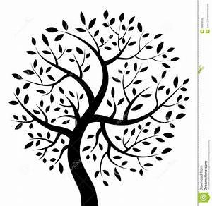 Black Tree Icon Royalty Free Stock Photo