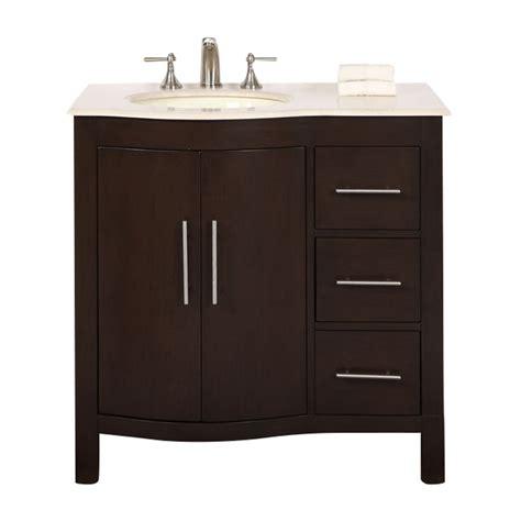 36 vanity with sink shop silkroad exclusive kimberly dark walnut undermount