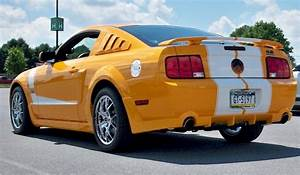 Ford Mustang With Ford Gt Lights Grabber Orange 2007 Ford Mustang Gt Custom Coupe