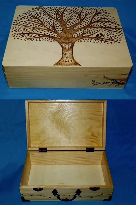 Rustic Wooden Card Box Gift Table & Wedding Reception