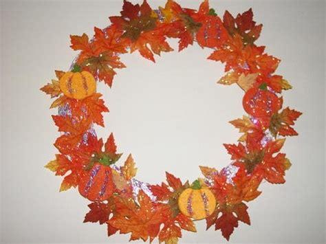 glitter leaves  felt pumpkin wreath favecraftscom