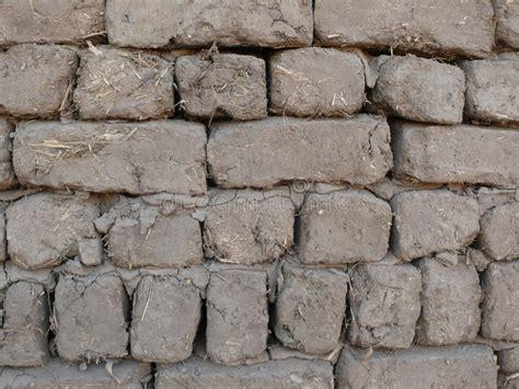 mud  straw bricks wall stock photo image