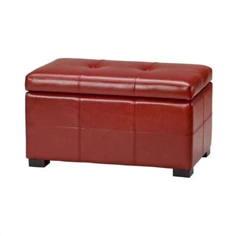 red leather storage ottoman safavieh small maiden tufted leather storage ottoman in