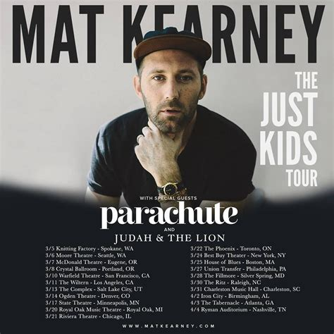 mat kearney tour mat kearney announces quot the just tour quot digital tour