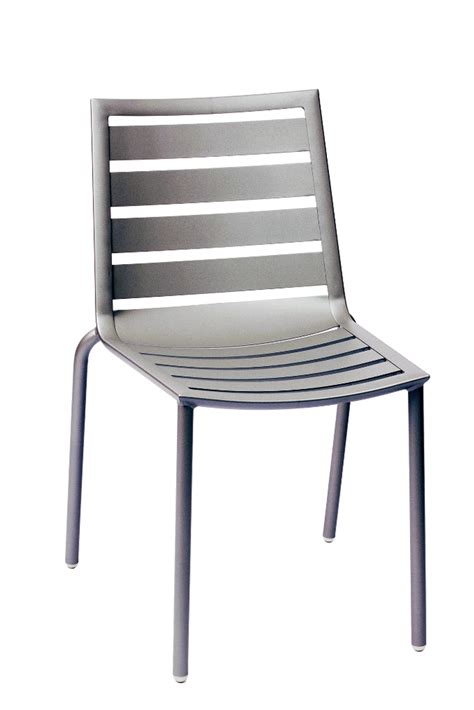 commercial outdoor aluminum stacking side chair with