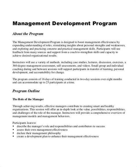 program management plan sample  examples  word