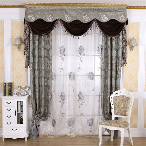 Window Curtains by European Style Blackout Jacquard Window Curtains