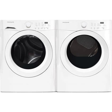 Frigidaire FFFW5000QW Washer & FFQG5000QW Gas Dryer Set