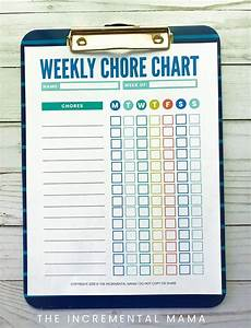Cute Colorful Free Customizable Chore Chart Printable