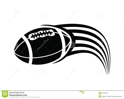 american football vector black and white american football stock vector image 47207691