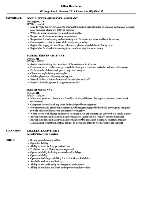 How To Right A Resume by Guide Restaurant Server Resume 12 Pdf Exles 2019