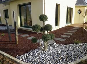 paillage galet et pouzzolane pas japonais dalle With photo amenagement terrasse exterieur 0 l206le verte realisations