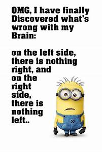 Minion Quotes Brain Funny Motivational Poster – My Hot Posters