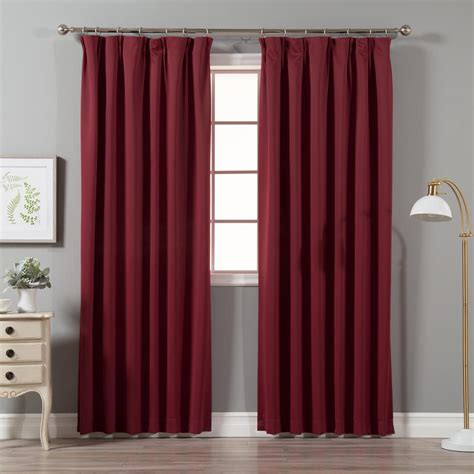 Pinch Pleated Drapery Panels by Best Home Fashion Burgundy 96 In L Blackout Pinch Pleat