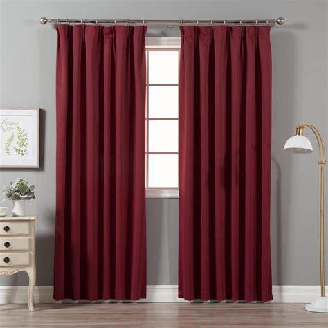 drapes pinch pleat best home fashion burgundy 96 in l blackout pinch pleat