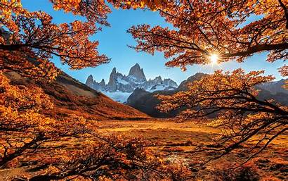 Fall Mountain Landscape Foliage Autumn Mountains Nature