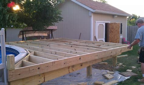 how to build a deck softwoods deck building building a deck around a pool