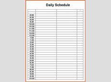 The gallery for > Weekly Schedule Template 15 Minute