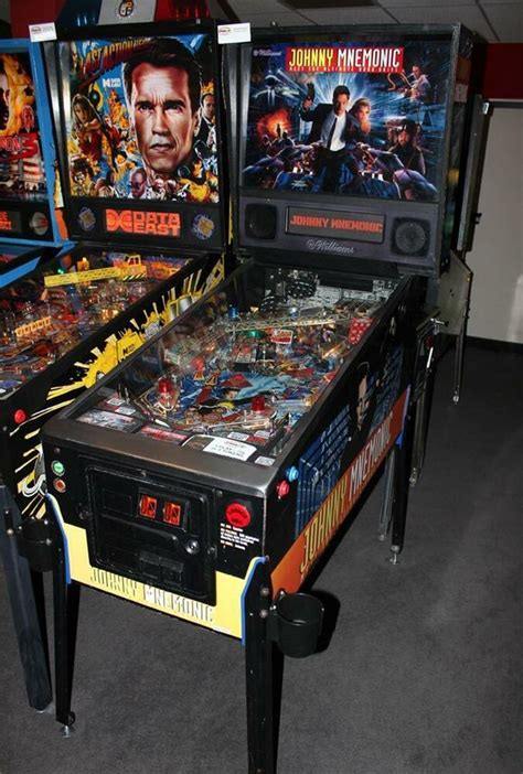 johnny mnemonic pinball machine williams  great