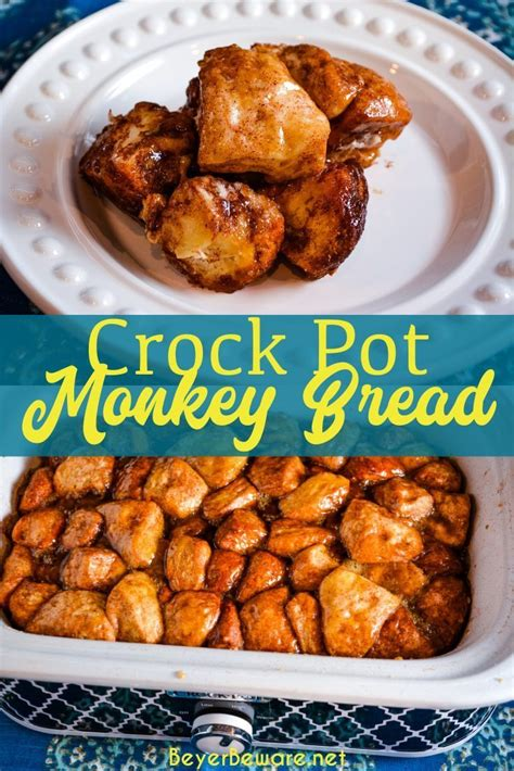 Shake the bag well to coat the the biscuits. Crock Pot Monkey Bread - Beyer Beware