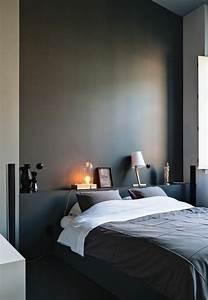 nos astuces en photos pour peindre une piece en deux couleurs With peinture gris paillet chambre
