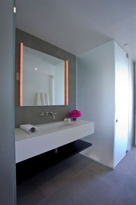 bathroom mirror lighting elegant modern interior