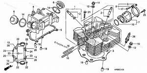 Honda Atv 2011 Oem Parts Diagram For Cylinder Head