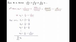 Sum To N Terms  1   1 2    1   2 3    1   3 4
