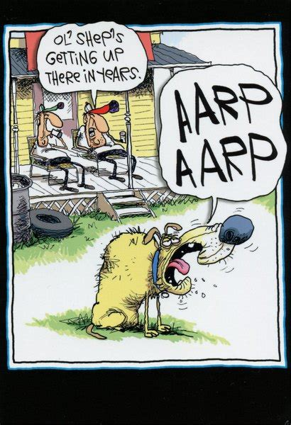 aarp bark funny humorous mccoy bros birthday card