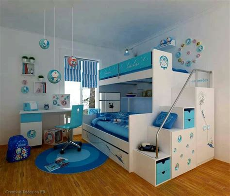 bunk bed idea cool bunk bed storage shades of blue awesome house ideas