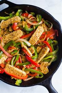 Easy Tempeh Fajitas | Food with Feeling
