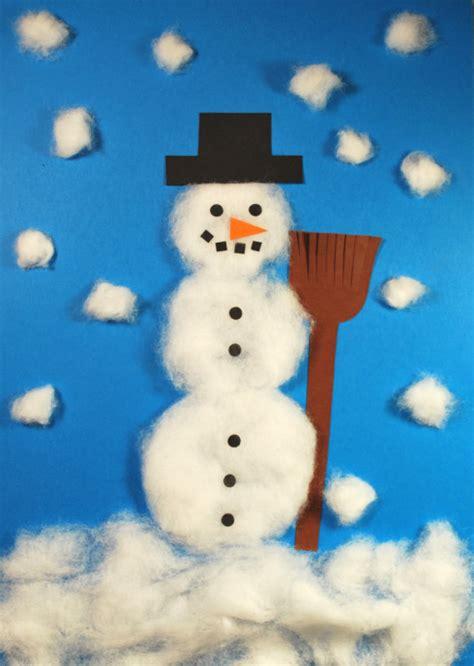 winter basteln mit kindern unter 3 schneemann aus watte kinderspiele welt de