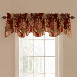 waverly ballad bouquet lined window valance decor
