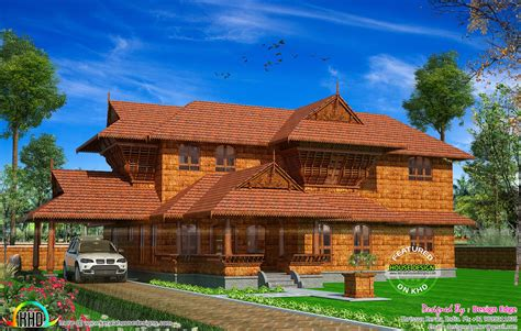 True Kerala traditional house with laterite stone - Kerala