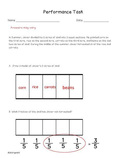 decompose fractions 4th grade worksheets improper