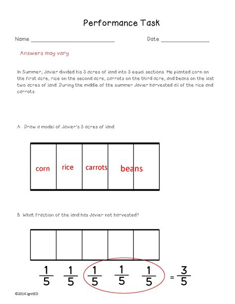 Decompose Fractions 4th Grade Worksheets  Improper Fraction Worksheets 4th Grade