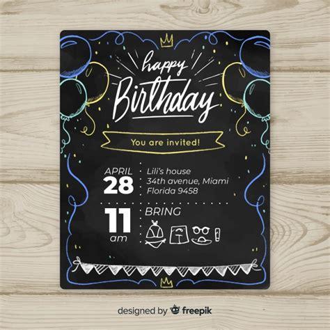birthday invitation vectors   psd files