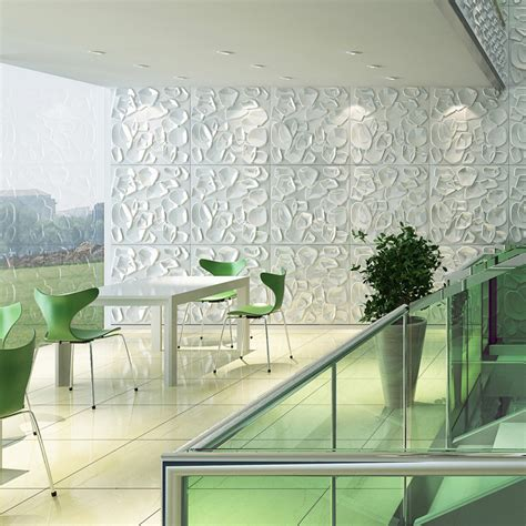 Wall Decor 3d by Textured Wall 3d Wall Panels Primitive White Set Of