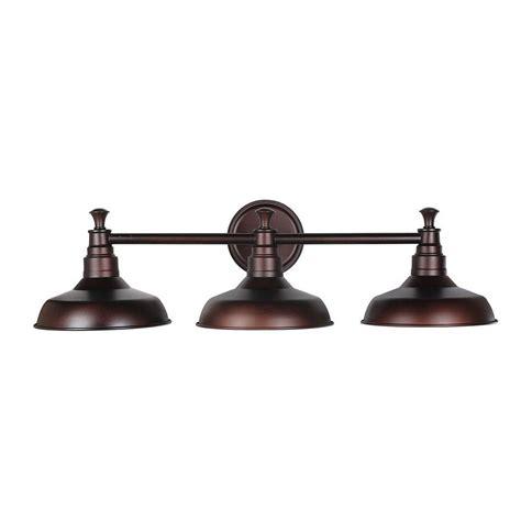 Bronze Bathroom Light Fixture by Design House Kimball 3 Light Textured Coffee Bronze Indoor