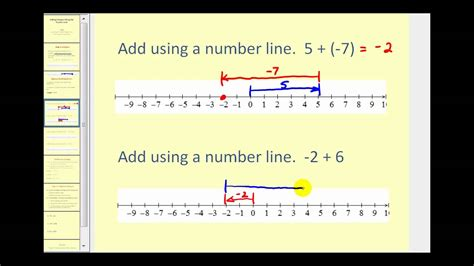 adding integers   number  youtube