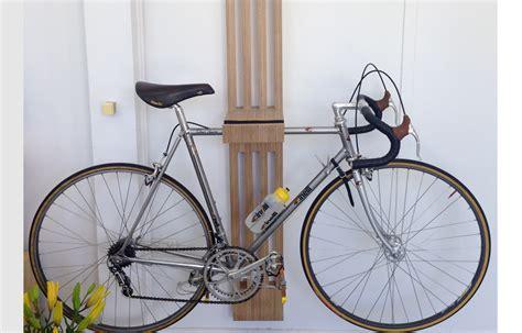 handcrafted timber bike rack  work shop