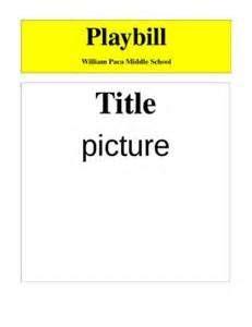 fan wedding program template make your own broadway playbill template my