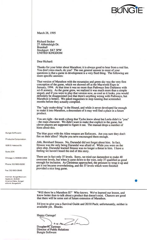 Blizzard Cover Letter