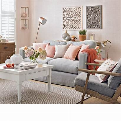 Peach Grey Colour French Living Decorating Coral